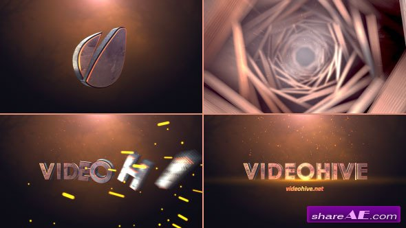 Videohive Cinematic Tunnel Logo Text Reveal - After Effects Templates