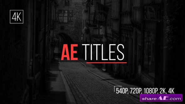 Videohive AE Titles - After Effects Templates