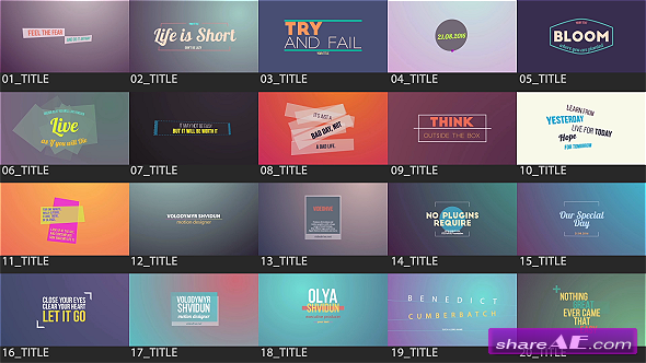 Videohive Motion Titles Pack - After Effects Templates
