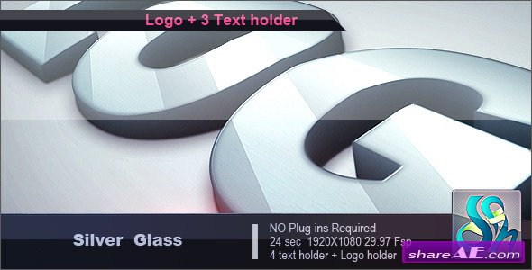 Videohive Silver Glass Logo - After Effects Templates