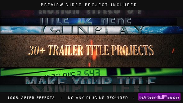 Videohive Trailer Titles Pack - After Effects Templates