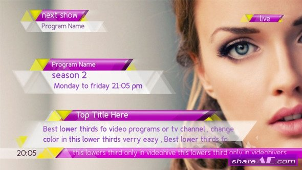Videohive New Lower Thirds Package - After Effects Templates
