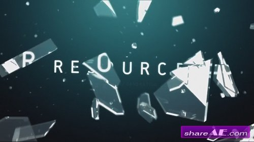Collateral 3D Glass Logo Reveal - After Effects Project (Rocketstock)