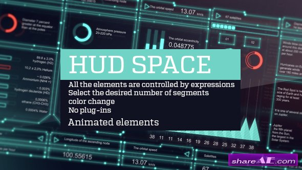 Videohive Hud space - After Effects Templates