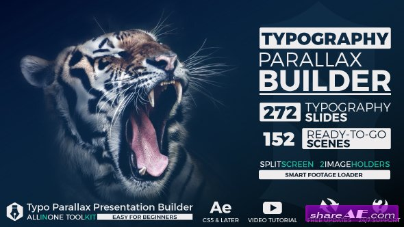 Videohive Big Typo Parallax Presentation Builder - After Effects Templates