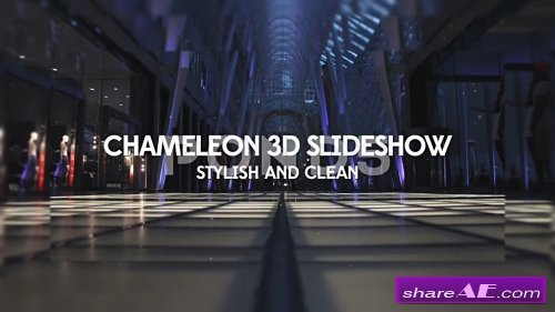 Chameleon 3D Slideshow - After Effects Template (Pond5)