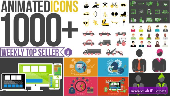 Animated Icons 1000+ - After Effects Project (Videohive)