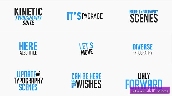 Videohive Kinetic Typography Suite - After Effects Templates