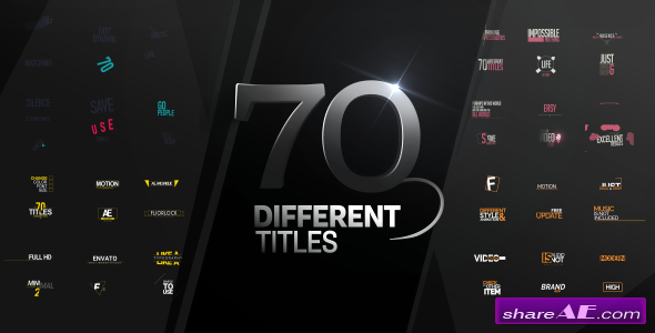 Videohive 70 Different Titles - After Effects Templates