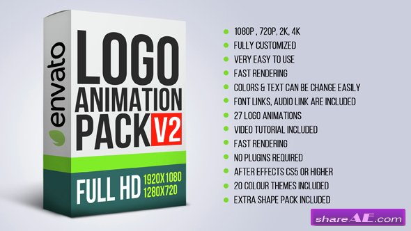 Videohive Logo Animation Pack V2 - After Effects Templates