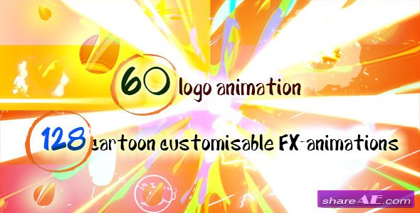 Videohive 60 Quick Cartoon Logo Reveal Pack &128 Cartoon FX in 9 Packs