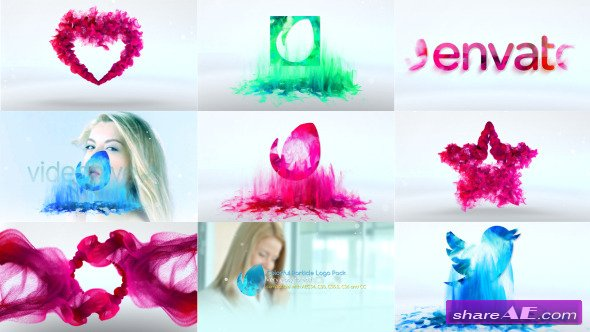 Videohive Colorful Particle Logo Pack - After Effects Templates