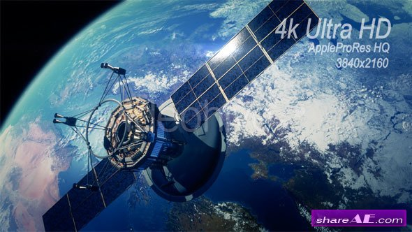 Videohive Communication Satellite Orbiting Earth - Motion Graphics