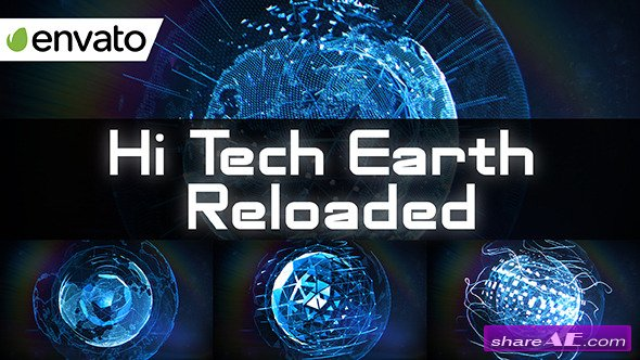 Videohive Hi Tech Earth Reloaded / Element 3D - After Effects Templates