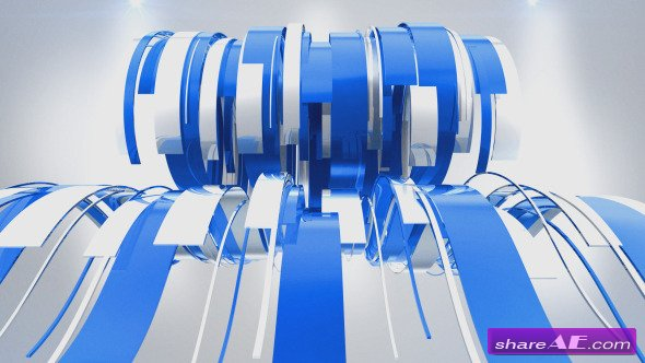 Videohive Wavy Ribbons Logo Reveal - After Effects Templates