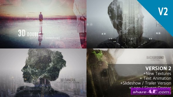 Videohive 2D and 3D Double Exposure Pack - After Effects Templates