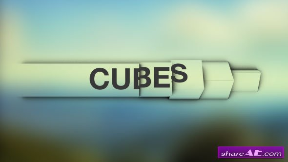 Videohive Cubes - Simple and Clean Lower Thirds - After Effects Templates