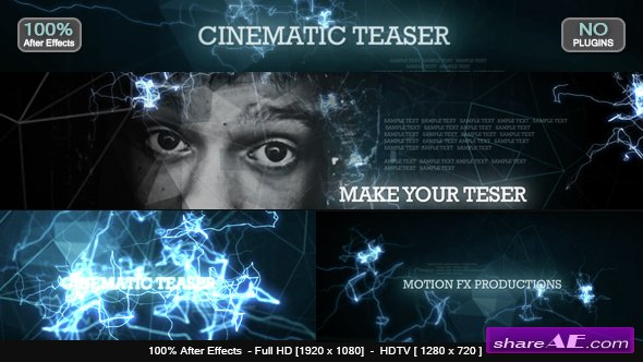 Videohive Cinematic Teaser - After Effects Templates