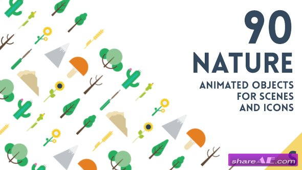 Videohive 90 Animated Nature Elements - After Effects Templates