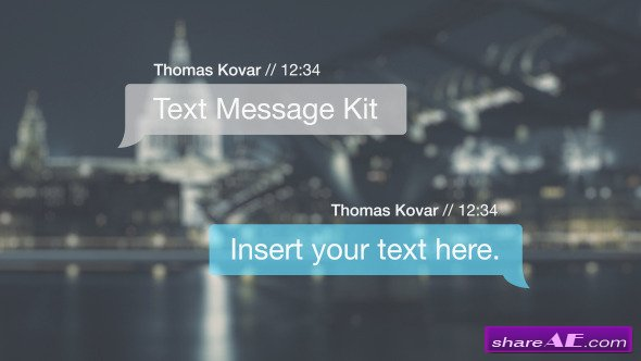 videohive text message kit after effects templates free after effects templates after for after effects text