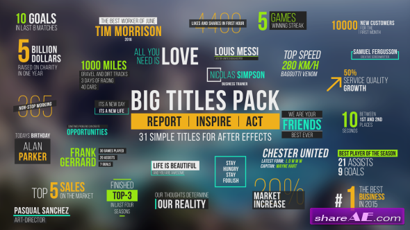 Videohive Big Titles Pack - After Effects Templates
