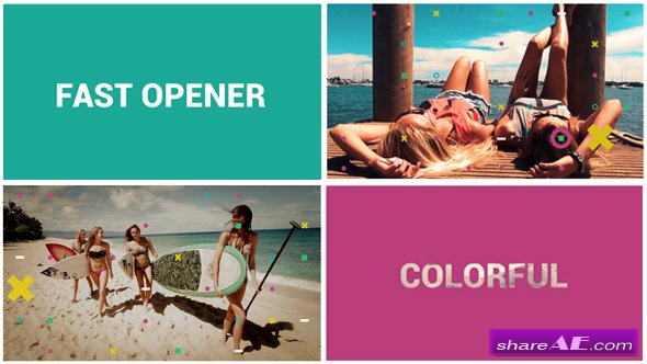 Videohive Fast Colorful Opener - After Effects Templates