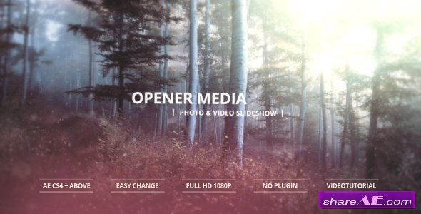 Videohive Opener Media - Photo & Video Slideshow - After Effects Templates