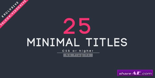 Videohive 25 Minimal Titles - After Effects Templates