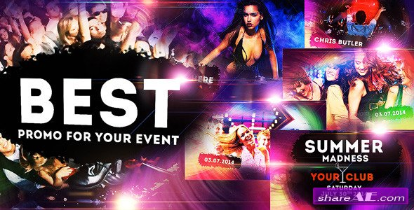 VIDEOHIVE Colourful Party/Event - Disco Night Club Promo - AFTER EFFECTS TEMPLATES