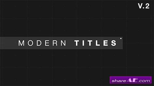 VIDEOHIVE 9 Modern Glitch Titles - AFTER EFFECTS TEMPLATE