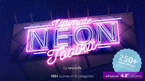 Videohive Ultimate Neon Toolkit - Neon Sign Mockup Kit - After Effects Templates