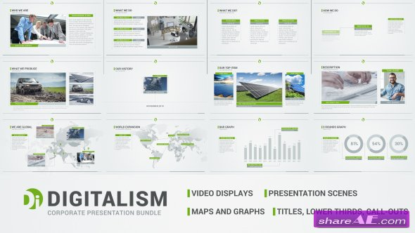 videohive digitalism - corporate presentation bundle - after, Presentation templates