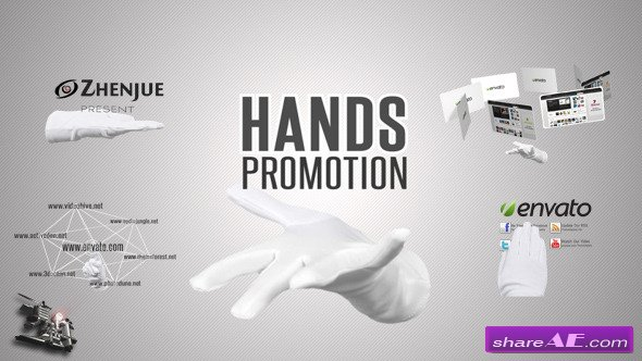Videohive Hands Promotion Pack - After Effects Templates