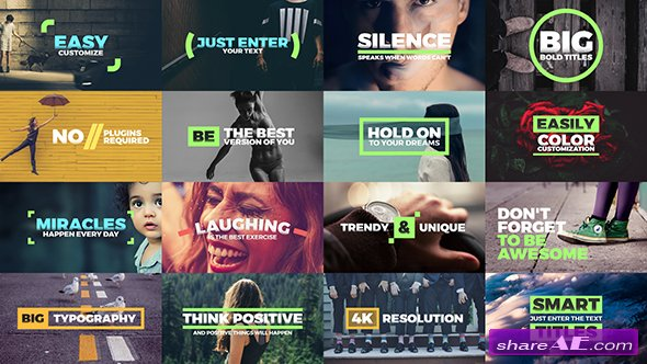 Videohive Fresh Titles - Auto-Resizing Animated Typography Text Pack - After Effects Templates