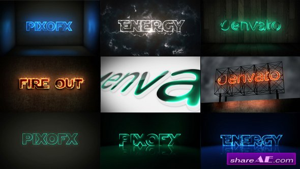 Videohive Multi Light Kit - Fire Light Neon Energy Composer - After Effects Templates