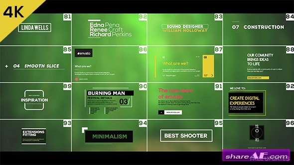 free after effects title templates - videohive 100 simple titles and lowerthirds after