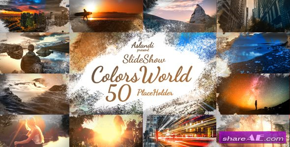 Videohive Colors World Ink Slideshow - After Effects Templates