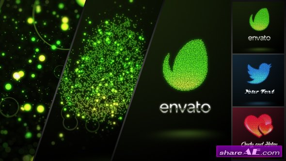 Videohive Glowing Dots Logo - After Effects Templates