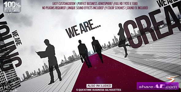 videohive business point logo - after effects templates » free, Powerpoint templates