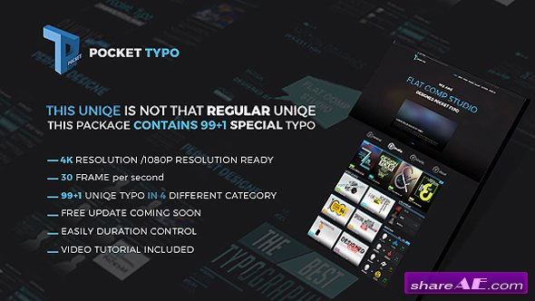 Videohive Pocket Typo - Motion Text Package - After Effects Templates