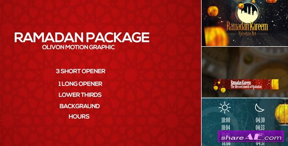 Videohive Ramadan Package - After Effects Templates