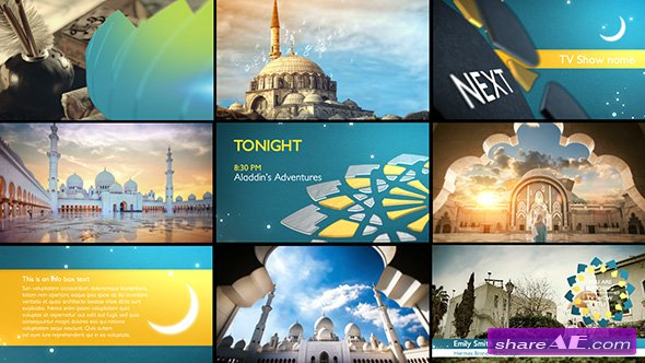 Videohive Arabia TV - Ramadan Ident Package - After Effects Templates