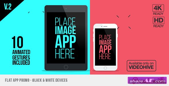 Videohive Flat App Promo - After Effects Templates