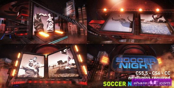 Videohive Soccer Night Opener - After Effects Templates