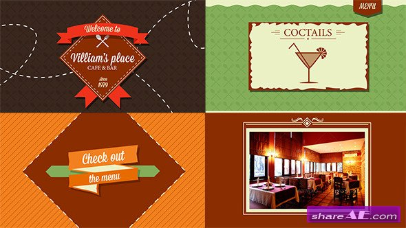 Videohive Restaurant/Cafe/Bar/Dine Promo - After Effects Templates