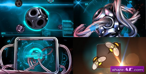 Videohive Sci-Fi Hi Tech Micro Electric Wire - After Effects Templates