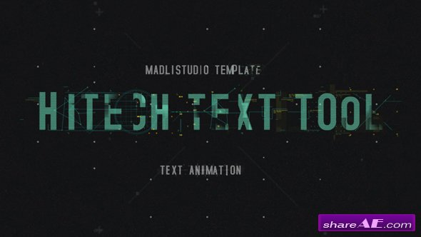 Videohive Hitech Text Tool - After Effects Templates
