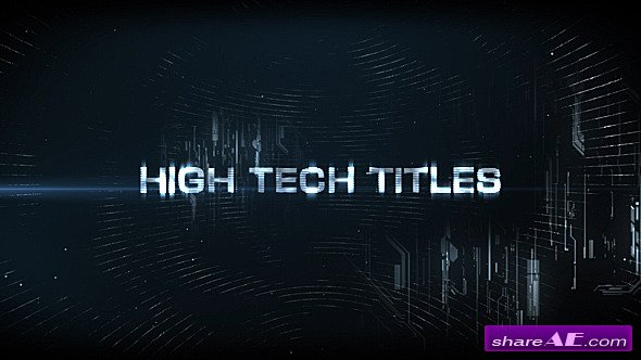Videohive High Tech Titles & Logo - After Effects Templates