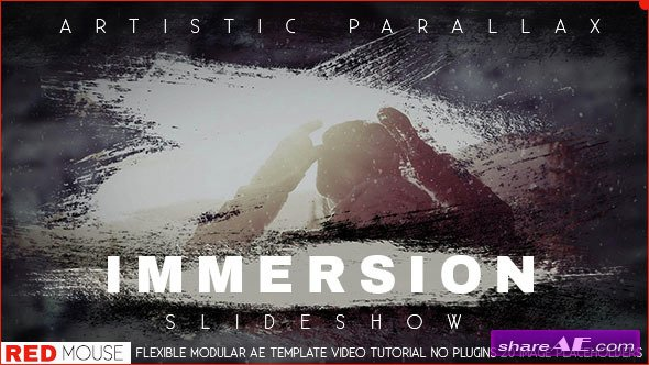 Videohive Immersion Artistic Parallax Slideshow - After Effects Templates
