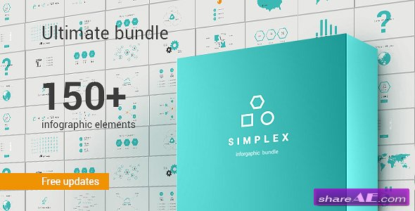 Videohive Simplex Infographic Bundle - After Effects Templates
